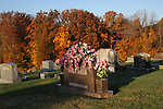 A tombstone at a cemetery in London, Ky. on October 25, 2012. Photo by Quianna Lige