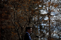 PM Trudeau speaks with media regarding COVID19, outside of Rideau Cottage in Ottawa. March 13, 2020.