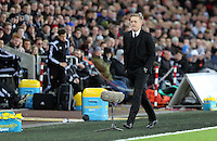Pictured: Swansea manager Garry Monk Saturday 10 January 2015<br />