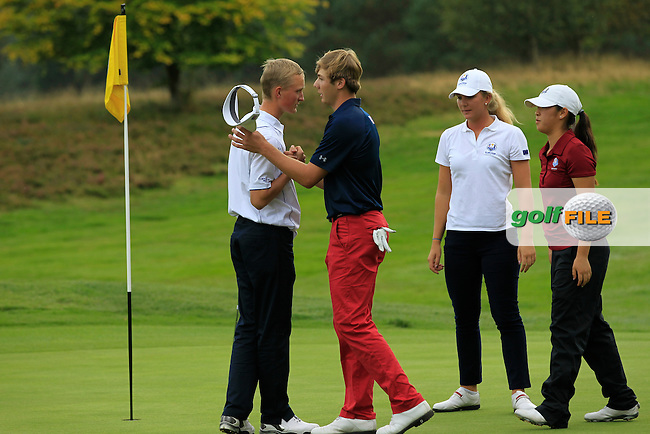 during the 2014 JUNIOR RYDER CUP at the Blairgowrie Golf Club, Perthshire, Scotland. Picture:  Thos Caffrey / www.golffile.ie