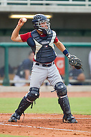 Catcher Wayne Taylor #34 of Team Red on defense against Team Blue during the USA Baseball 18U National Team Trials at the USA Baseball National Training Center on June 30, 2010, in Cary, North Carolina.  Photo by Brian Westerholt / Four Seam Images