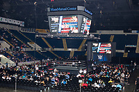 Audience members take their seats before a WWE Live Summerslam Heatwave Tour event at the MassMutual Center in Springfield, Massachusetts, USA, on Mon., Aug. 14, 2017.