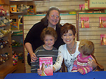 "Carolyn Hennesy ""Diane Miller"" - GH at Barnes and Noble on May 19, 2009 with her new book Pandora Gets Lazy - the third book in a series of 7. They are based on the Seven Deadly Sins. In photo are Vikki, Kameron and Stephanie.(Photo by Sue Coflin/Max Photos)"