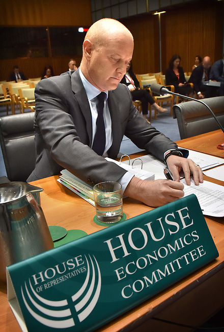 Commonwealth Bank of Australia CEO Ian Narev appears before the House of Representatives Standing Committee on Economics at Parliament House in Canberra, Australia, on Tuesday, March 7, 2017.  Photographer: Mark Graham/Bloomberg