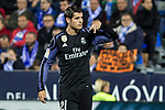Alvaro Morata of Real Madrid celebrates after scoring a goal during the match of  La Liga between Club Deportivo Leganes and Real Madrid at Butarque Stadium  in Leganes, Spain. April 05, 2017. (ALTERPHOTOS / Rodrigo Jimenez)