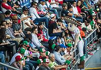 Botarga de mariachi haciendo ambiente con la aficion, durante Partido de beisbol de la Serie del Caribe con el encuentro entre los Alazanes de Gamma de Cuba contra los Criollos de Caguas de Puerto Rico en estadio de los Charros de Jalisco en Guadalajara, M&eacute;xico, Martes 6 feb 2018. <br /> (Foto: /Luis Gutierrez)