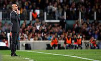 BARCELONA, ESPANHA, 05 MAIO 2012 - CAMP. ESPANHOL - BARCELONA X ESPANYOL - Pepe Gardiola tecnico do Barcelona durante partida contra o Espanyol em partida valida pela 37 Rodada do Campeonato Espanhol, no estadio Camp Nou em Barcelona na Espanha. (FOTO: VANESSA CARVALHO / BRAZIL PHOTO PRESS).
