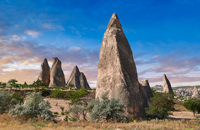 Pictures & images of the fairy chimney pillar rock formations  near Goreme, Cappadocia, Nevsehir, Turkey