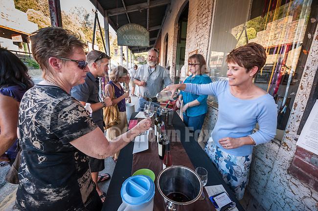 Fifth Amador City Summer Social, Main St. (Historic 49), Amador City, Calif. featuring Amador County wines, local musicians, art, food.