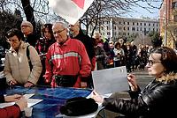 Roma, 3 Marzo 2019<br /> Voto in Piazza Mazzini.<br /> Primarie del Partito Democratico, file per votare.