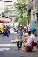 Banana seller,  Saigon, Ho Chi Minh City, Vietnam