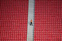 BRASÍLIA, DF, 20.11.2015 - ABC-BOTAFOGO -   Segurança  durante partida do Botafogo contra o ABC, valido pela 37ª rodada do Campeonato Brasileiro série B no estádio Mané Garrincha em Brasília nesta sexta-feira, 20. (Foto: Ed Ferreira/Brazil Photo Press)