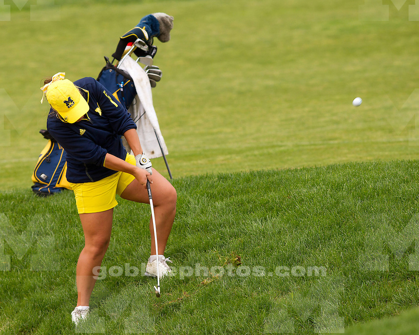 The University of Michigan women's golf team finished in tenth place at the Big Ten Championship at the Donald Ross Course (French Lick Resort) in French Lick, Ind., on April 28, 2013.