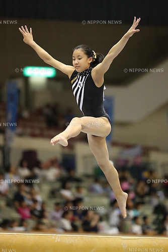 Ayumi Niiyama (), <br /> AUGUST 21, 2017 - Artistic Gymnastics : <br /> 48th All Japan Junior High School Championships <br /> Women's Individual All-Around <br /> Balance Beam <br /> at Kitakyushu City General Gymnasium, Fukuoka, Japan. <br /> (Photo by YUTAKA/AFLO)
