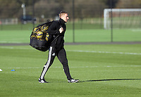 Pictured: Manager Garry Monk Wednesday 05 November 2014<br /> Re: Swansea City FC players training at Fairwood training ground, ahead of their Premier League game against Arsenal on Sunday.