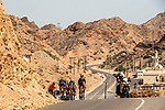 The breakaway group in action during Stage 4 of the 2018 Tour of Oman running 117.5km from Yiti (Al Sifah) to Ministry of Tourism. 16th February 2018.<br /> Picture: ASO/Muscat Municipality/Kare Dehlie Thorstad   Cyclefile<br /> <br /> <br /> All photos usage must carry mandatory copyright credit (&copy; Cyclefile   ASO/Muscat Municipality/Kare Dehlie Thorstad)