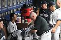 Hiroki Kuroda (Yankees),<br /> JULY 25, 2013 - MLB :<br /> Hiroki Kuroda of the New York Yankees sits in the dugout during the Major League Baseball game against the Texas Rangers at Rangers Ballpark in Arlington in Arlington, Texas, United States. (Photo by AFLO)