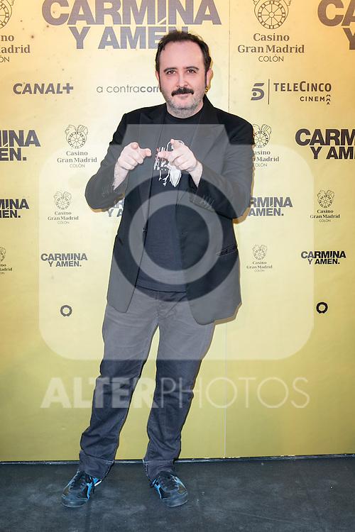 """Spanish actor Carlos Areces attend the Premiere of the movie """"Carmina y Amen"""" at the Callao Cinema in Madrid, Spain. April 28, 2014. (ALTERPHOTOS/Carlos Dafonte)"""