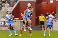 Chicago, IL - Saturday Sept. 24, 2016: Joanna Lohman, Sofia Huerta during a regular season National Women's Soccer League (NWSL) match between the Chicago Red Stars and the Washington Spirit at Toyota Park.