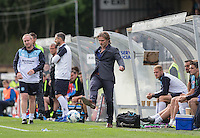 Wycombe Wanderers Manager Gareth Ainsworth passes the ball for a throw in during the Sky Bet League 2 match between Wycombe Wanderers and Hartlepool United at Adams Park, High Wycombe, England on 5 September 2015. Photo by Andy Rowland.