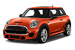 2019 MINI Hardtop-2-Door John-Cooper-Works-Iconic 5 Door Hatchback Angular Front automotive stock photos of front three quarter view