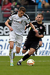 GER - Sandhausen, Germany, March 19: During the 2. Bundesliga soccer match between SV Sandhausen (white) and FC ST. Pauli (grey) on March 19, 2016 at Hardtwaldstadion in Sandhausen, Germany. (Photo by Dirk Markgraf / www.265-images.com) *** Local caption *** Ranisav Jovanovic #26 of SV Sandhausen, Bernd Nehrig #7 of FC St. Pauli
