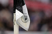 One of the Swansea corner flags during the Premier League match between Swansea City and Crystal Palace at The Liberty StadiumSwansea, Wales, UK. Saturday 26 November 2016