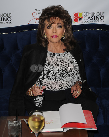 COCONUT CREEK, FL - APRIL 25: Joan Collins makes an appearance at the Seminole Casino Coconut Creek casino on April 25, 2014 in Coconut Creek , Florida.MPI04/MediaPunch