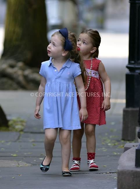 WWW.ACEPIXS.COM<br /> <br /> May 31 2013, New York City<br /> <br /> Tabitha and Marion Broderick walk to school in the West Village on May 31 2013 in New York City<br /> <br /> <br /> By Line: Curtis Means/ACE Pictures<br /> <br /> <br /> ACE Pictures, Inc.<br /> tel: 646 769 0430<br /> Email: info@acepixs.com<br /> www.acepixs.com