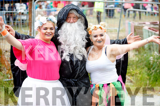 Jade Moynihan, John Byrne and Rachel O'Mahony, enjoying Kilflynn Enchanted Fairy Festival on Sunday last.