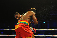 Lawrence Osueke defeats Charles Adamiu on points during a Boxing Show at the Metro Radio Arena on 13th October 2018