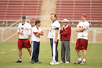 21 April 2007: Todd Husak, Bob Murphy, Austin Lee and the alumni during the Alumni's 38-33 victory over the coaching staff during a flag football exhibition at Stanford Stadium in Stanford, CA.