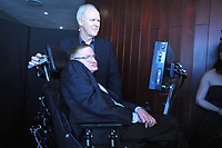 ***FILE PHOTO*** STEPHEN HAWKING HAS PASSED AWAY<br /> <br /> NEW YORK, NY - JUNE 2: Actor John Lithgow and Physicist Stephen Hawking at the 2010 World Science Festival Opening Night Gala at Alice Tully Hall, Lincoln Center in New York City. June 2, 2010. Credit: Dennis Van Tine/MediaPunch