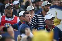 Rory McIlroy (Team Europe) during Friday's Fourballs, at the Ryder Cup, Le Golf National, Îls-de-France, France. 28/09/2018.<br /> Picture David Lloyd / Golffile.ie<br /> <br /> All photo usage must carry mandatory copyright credit (© Golffile | David Lloyd)