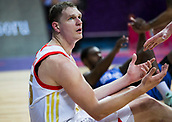 7th September 2017, Fenerbahce Arena, Istanbul, Turkey; FIBA Eurobasket Group D; Russia versus Great Britain; Center Timofey Mozgov #15 of Russia reacts during the match