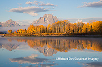 67545-09313 Sunrise at Oxbow Bend in fall; Grand Teton National Park; WY
