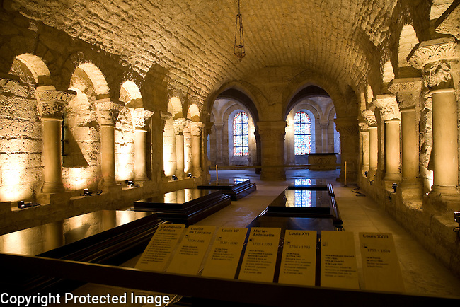 Crypt, St Denis Cathedral, Paris, France