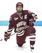 Mike Brennan (BC 4) - The Boston College Eagles and Providence Friars played to a 2-2 tie on Saturday, March 1, 2008 at Schneider Arena in Providence, Rhode Island. Mike Brennan, senior defenseman, captains the Boston College Eagles.  He wore the A his junior year and is a free agent.
