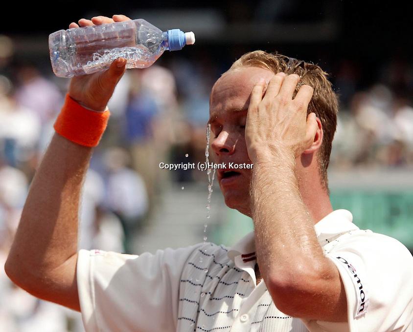 20030606, Paris, Tennis, Roland Garros, Martin Verkerk houdt het hooft koel