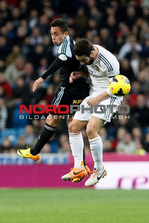 Real Madrid¬¥s Carvajal (R) and Celta de Vigo¬¥s Orellana during La Liga match in Santiago Bernabeu stadium in Madrid, Spain. January 06, 2014. Foto © nph / Victor Blanco)