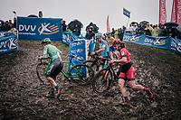 slippery slope<br /> <br /> women's race<br /> Soudal Jaarmarktcross Niel 2018 (BEL)