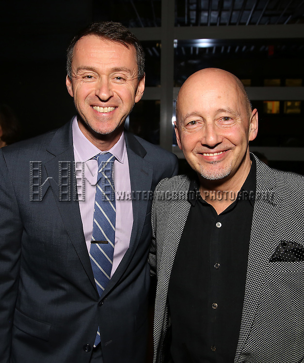 Andrew Lippa and Steven Sorrentino attend the DGF Reception for Andrew Lippa & Friends at Landmarc on February 1, 2017 in New York City.