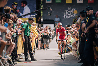 Daniel Navarro (ESP/Cofidis) coming back from the sign-on podium<br /> <br /> Stage 15: Millau &gt; Carcassonne (181km)<br /> <br /> 105th Tour de France 2018<br /> &copy;kramon