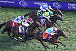 November 3, 2018: Expert Eye #7, ridden by Frankie Dettori, wins the Breeders' Cup Mile on Breeders' Cup World Championship Saturday at Churchill Downs on November 3, 2018 in Louisville, Kentucky. John Voorhees/Eclipse Sportswire/CSM