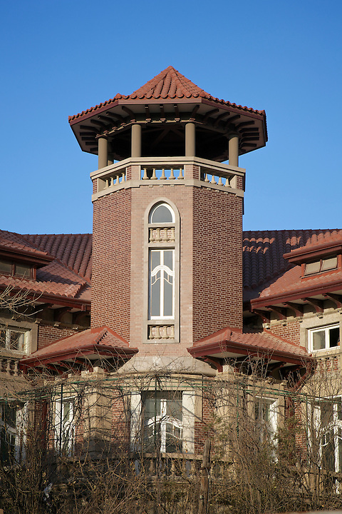 The Impressive Tower On The Consul-General's Residence, Tianjin (Tientsin).