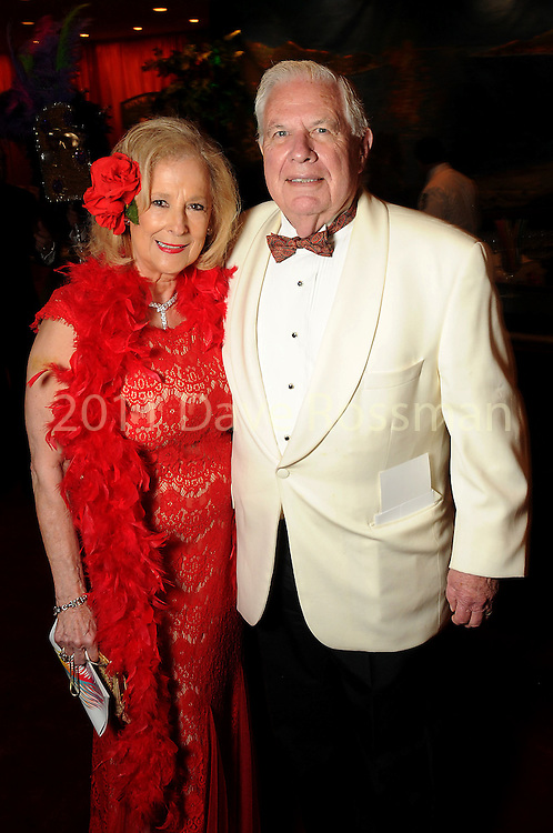 "Mary Ann and David McKeithan at the 2016 Houston Symphony Gala ""Carnaval"" at Jones Hall Saturday May 14,2016(Dave Rossman Photo)"