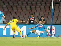 Eder  durante l'incontro di calcio di Serie A   Napoli -Sampdoria allo  Stadio San Paolo  di Napoli , 30 Agosto 2015