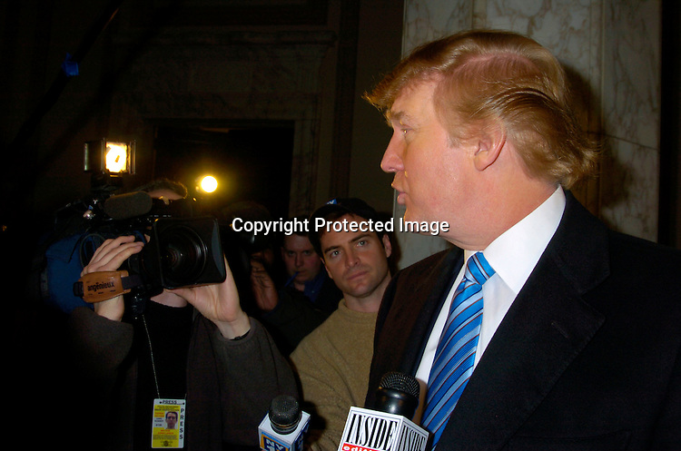 "Donald Trump ..at the Auditions for the 2nd season of ""the Apprentice"" on ..Marvh 18,2 004 at The Trump Building on Wall Street. ..Photo by Robin Platzer, Twin Images"