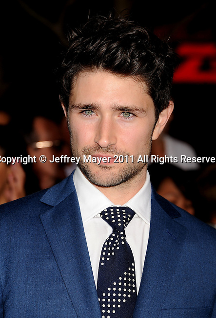 "LOS ANGELES, CA - NOVEMBER 14: Matt Dallas arrives at the Los Angeles premiere of ""The Twilight Saga: Breaking Dawn Part 1"" held at Nokia Theatre L.A. Live on November 14, 2011 in Los Angeles, California."