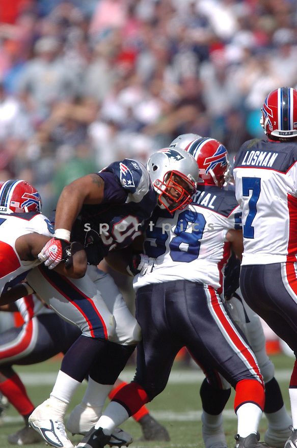RICHARD SEYMOUR, of the New England Patriots, in action against the Buffalo Bills on September 10, 2006 in Foxboro, Mass...Patriots win 19-17..Tomasso DeRosa/SportPics
